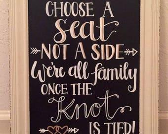 Wedding Seating Chart Chalkboard Sign