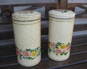 2 Vintage Dutch storage tins from the factory Verkade.
