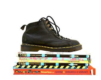 90er Jahre schwarz Dr. Martens Stiefel Frauen 7 1/2 8 / / Jahrgang Doc Marten schwarz Wandern Stiefel Größe 5 UK hergestellt in England