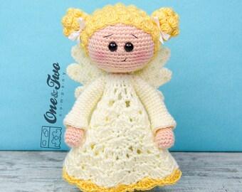 Angel the Angel Lovey / Security Blanket - PDF Crochet Pattern - Instant Download - Blankie Baby Blanket