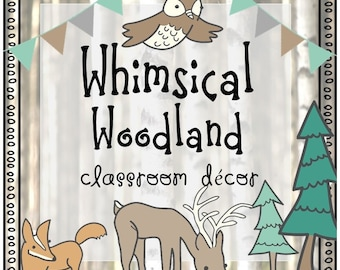Woodland Classroom Decor (Editable)