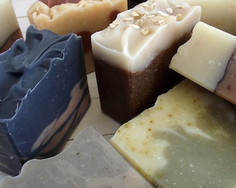 Your choice of 6 Handmade All Natural Cold Process Soaps