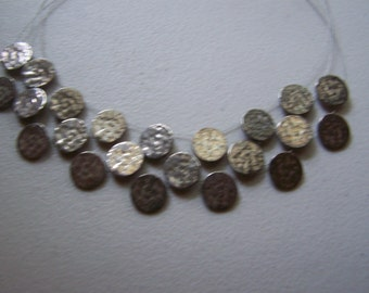 CLEARANCE Hammered Antiqued Silver Chico's Bib Necklace
