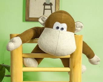 Stuffed Animal – Orangutan | Chimp PDF Sewing Pattern | Softie Tutorial