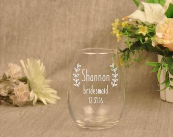Rustic Wedding Wine Glasses, Personalized Wine Glasses, Country Wedding Favors, Country Wedding Wine Glasses, Rustic Wine Glasses, Etched