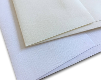 Premium Classic LINEN A6 Envelopes - 50 pack