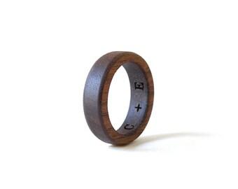 Walnut Wood Ring, Wood Ring, Women Wedding Band, Wedding Ring, Walnut Ring, Wood Wedding Jewelry, Walnut Jewelry, Wooden Men Ring