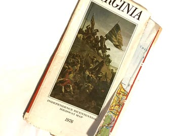 Vintage Highway Road Map West Virginia Capital Cover