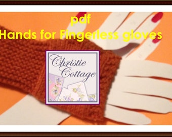 Fingerless Glove Hand Display for Craft Shows PDF, not a finished product