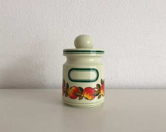 Emsa bewaarpot-Retro apple print Vintage 1970 's-Apple decor design plastic storage pot container