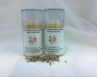 Tea Tree/Lavender/Rosemary Solid Lotion Stick  1 oz