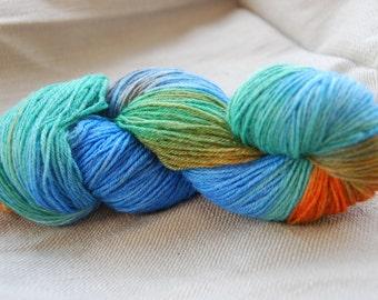 handdyed yarn -  100g/3,5 oz. -  Colour book of Kells