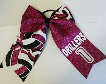 Personalized volleyball bows. Made to order with any colors
