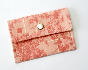 Flora Tonal Fabric Business Card Holder ~ Name Card Holder ~ Credit Card Holder ~ EzLink Card Holder ~ Shopping Card Holder ~ Wallet ~ Purse