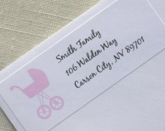 Baby Shower Address Labels - Choose Color
