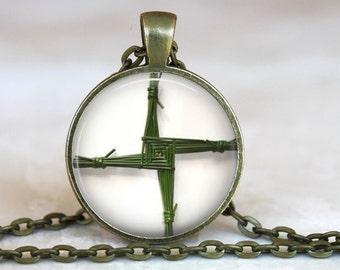 Saint Brigid's Cross Pendant - Catholic Jewelry, Catholic Necklace