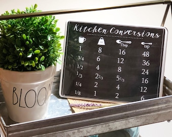 Kitchen Signs Kitchen Wall Decor Kitchen Measurements Ready To Ship Measurements Chart Kitchen Chalkboard Kitchen Conversions Sign Rae Dunn