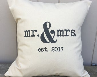 Mr & Mrs Pillow Cover
