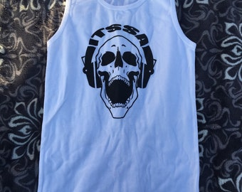 ITSSA White Skull Tank Top