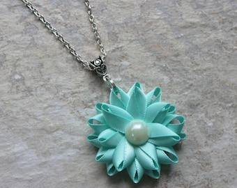 Aqua Necklace, Aqua Blue Necklace, Aqua Blue and Ivory Pearl Necklace, Aqua Wedding, Aqua Blue Wedding, Aqua Jewelry