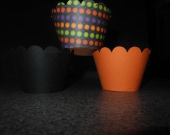 Halloween Cupcake Wrappers- Set of 12 Fall