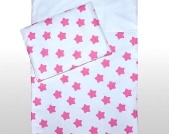 Nursery Bedding Set 2 Pcs 120 x 90 cm / 100% Cotton Pillowcase + Duvet