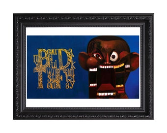 Kanye West My Beautiful Dark Twisted Fantasy Album Artwork Poster or Art Print