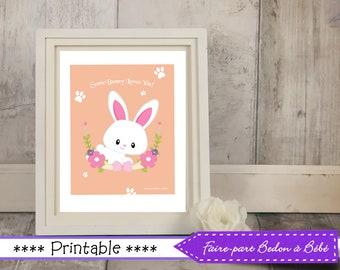 Easter wall art - Easter printable - Easter Nursery wall art - Easter printable - 8x10 wall art - Easter- digital printable