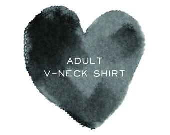 Adult V-Neck Short Sleeve