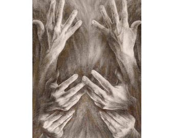 Inspire (ASL) Small Art Print