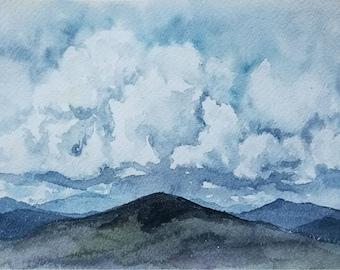 46/100 Watercolor Landscape | Original Watercolor | Watercolor Landscape | Painting | Landscape Painting