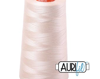 AURIFIL Cone MAKO 50 Wt 5900 Meters 6452 Yds Color 2000 Light Sand Quilt Cotton Quilting Thread