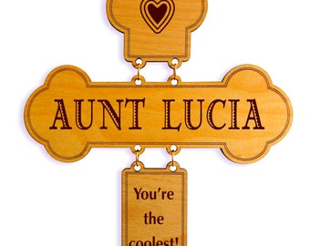 Aunt Birthday Gift - Gifts for Auntie - Personalized Aunt Gift Ideas - Mothers Day - Mother's Day Gift from Niece - Nephew - Cross