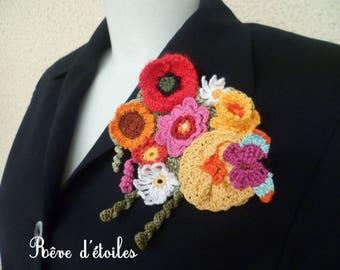Cotton spring brooch