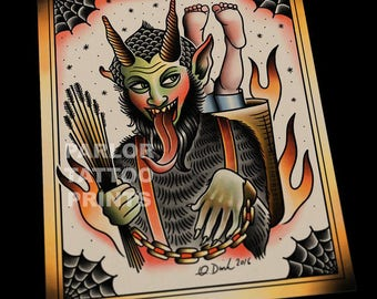 Krampus Tattoo Flash