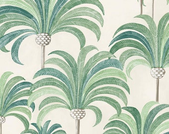 Coupon, fabric, art, art deco, Palm, Thévenon, tropical, exotic, Palm trees.