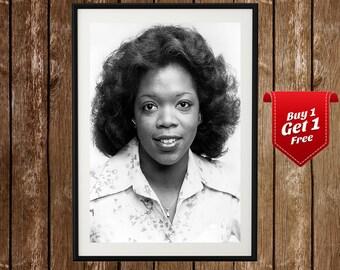 Young Oprah Winfrey Portrait, Oprah Poster, Oprah Print, Vintage Oprah, Oprah Show Print, Oprah Show Poster, Oprah Winfrey, Winfrey Show