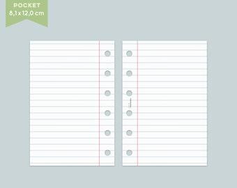 Notepaper Filofax - College - 25 Sheets - Pocket