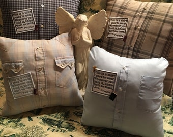 Handmade Embroidered Memory Pillow