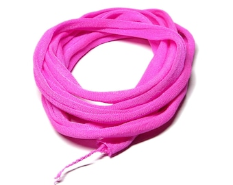 Silk Ribbon Elastic - Hand Dyed - Jersey - PINK