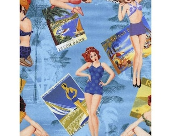 Cotton Fabric Quilting Timeless Treasures Pin Up Girls