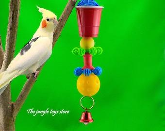 Jouets d'oiseaux de 10'' ( 25 cm ) à suspendre et très coloré pour votre oiseaux, perroquets, conures, perruches ou autres !