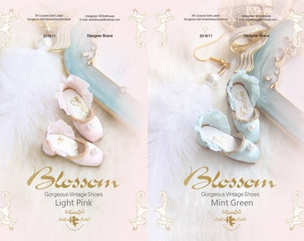 SK Couture Limited Edition- Pearl Vintage Shoes for Blythe, Pullip, Azone, Momoko, Licca, Jenny