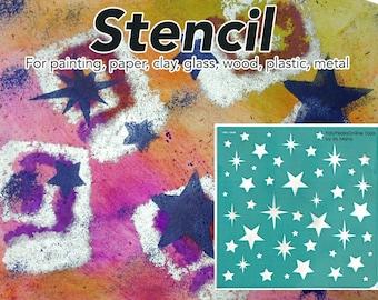 Craft mural pochoir, pochoir DIY, pochoir, peinture au pochoir, stencil, réutilisable, Scrapbooking, adhésif, pochoir décor, pois, motif, modèle