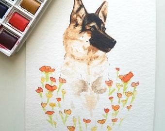 Pet Portrait - custom watercolor painting