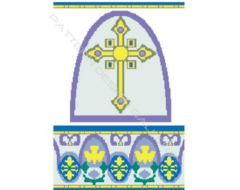 Cross Graph Crochet Pattern Religious Cross Afghan Graphgan Crochet Pattern Cross PDF Instant Download