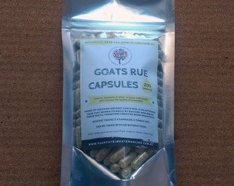 Goats Rue Lactation Supplement- Natural 400mg capsules- galactogenic, breastfeeding, breastmilk, supply