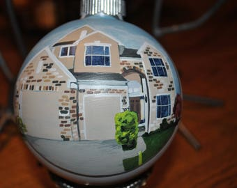 Custom Hand Painted Home Ornament, Christmas Home Ornament - sold
