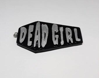 Dead Girl Coffin Necklace Pendant