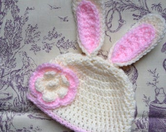 Toddler bunny bonnet etsy nz easter bunny hat easter gift easter baby baby hat newborn baby to negle Gallery